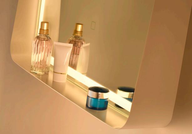 specchio bagno illuminato led mensola alicante vanità e casa