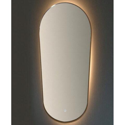 miroir de salle de bain illuminé led vanità e casa argo oval