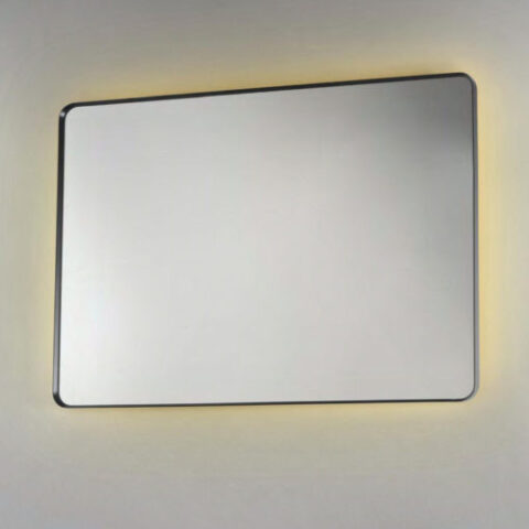 miroir de salle de bain led cadre en aluminium vanità e casa argo