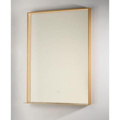miroir de salle de bain lumières intégrées étagère vanità e casa fenice gold