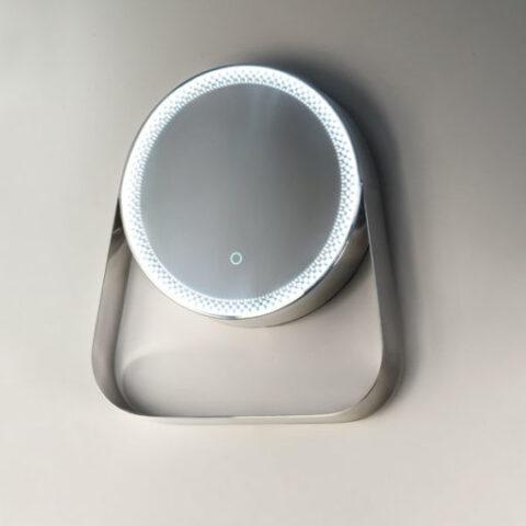 miroir de salle de bain rétroéclairé led avec étagère milky way vanità e casa