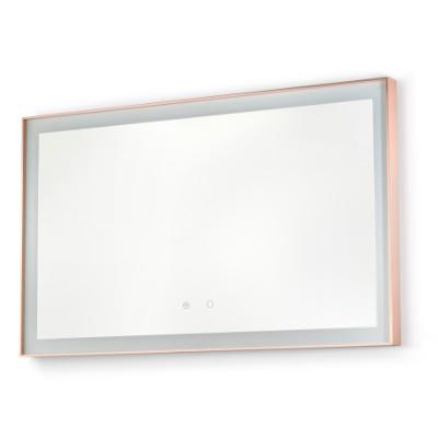 specchio bagno retroilluminato led rose gold vanità e casa idra