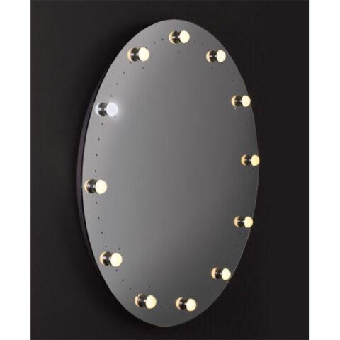 specchio bagno tondo illuminato vanità e casa sundial