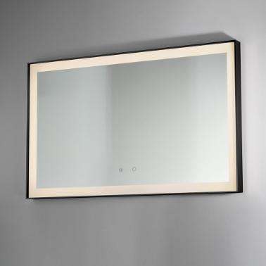specchio retroilluminato led bagno idra black vanità e casa