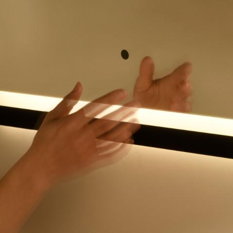 specchio retroilluminato led bagno sensore di prossimita vanità e casa dusk