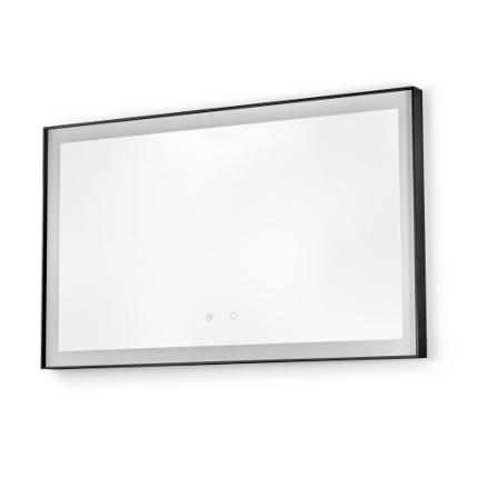 specchio retroilluminato led idra black vanità e casa