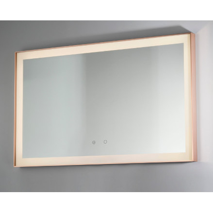 backlit mirror led rose gold vanità e casa idra