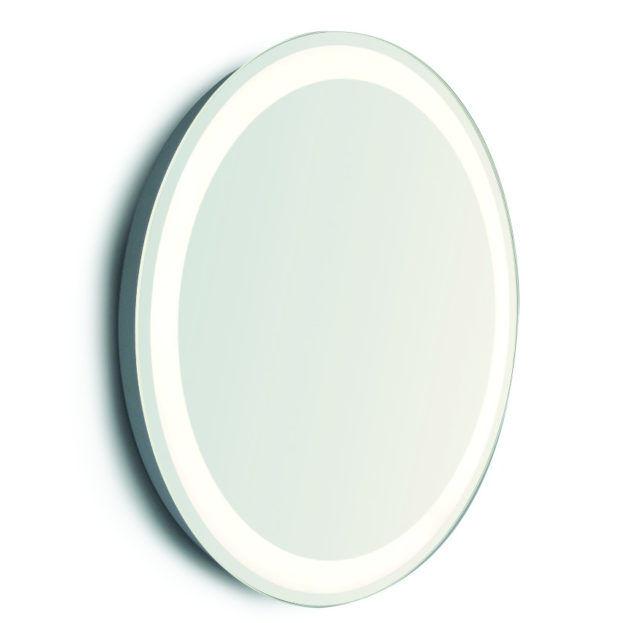 specchio tondo illuminato vanità e casa pluto round