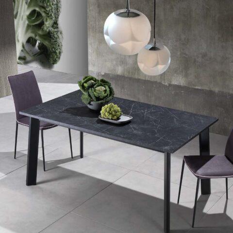 tavolo allungabile cucina piano grafite opaco maxhome teo