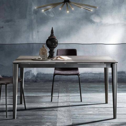 tavolo allungabile piano grigio chiaro maxhome plus