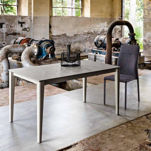 table extensible dessus gris jambe plus maxhome plus