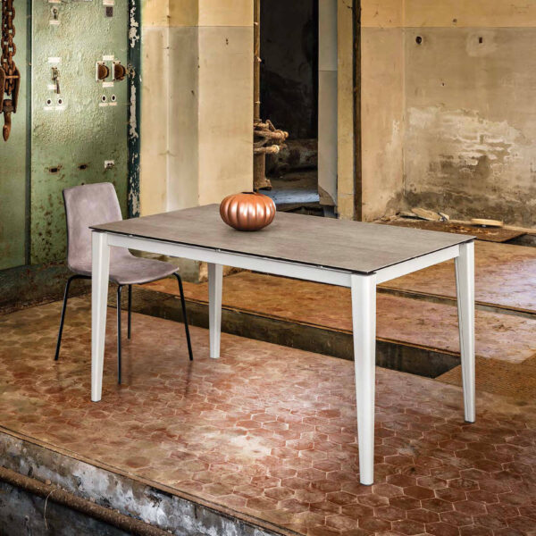 table extensible dessus gris maxhome plus