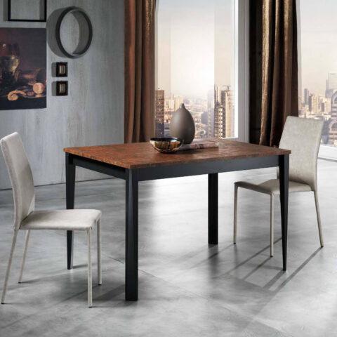 tavolo cucina allungabile piano antracite maxhome otis