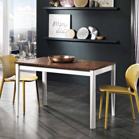 tavolo cucina allungabile piano melaminico maxhome otis